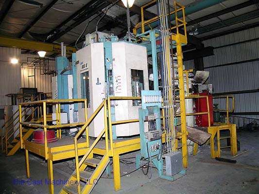 Picture of Ube 800 HVSC Horizontal Clamp Vertical Shot (HVSC) Cold Chamber Aluminum Squeeze Cast/Semi-Solid Die Casting Machine For Sale DCMP-1400