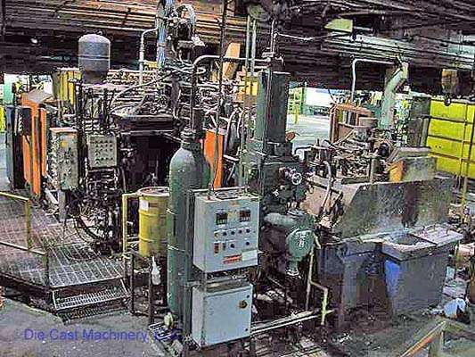 Picture of Toshiba DC 800 C Horizontal Cold Chamber Aluminum High Pressure Die Casting Machine For Sale DCMP-1546