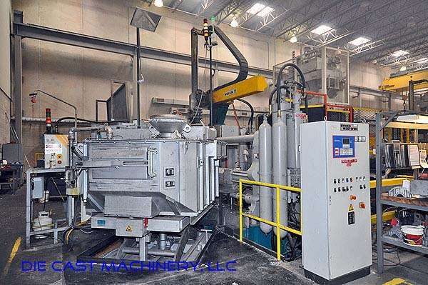 Picture of Buhler Evolution B140 D Horizontal Cold Chamber Aluminum High Pressure Die Casting Machine For Sale DCMP-1990