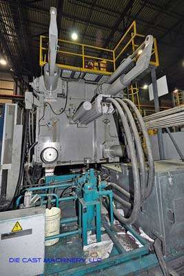 Picture of Buhler Evolution B 320 DL Horizontal Clamp Vertical Shot (HVSC) Cold Chamber Aluminum Squeeze Cast/Semi-Solid Die Casting Machine For Sale DCMP-2004