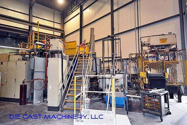 Picture of Buhler Evolution B 140 DL Horizontal Clamp Vertical Shot (HVSC) Cold Chamber Aluminum Squeeze Cast/Semi-Solid Die Casting Machine For Sale DCMP-2005