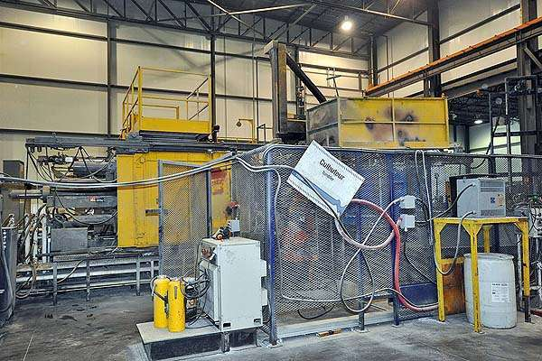 Picture of Buhler H 800-SC Horizontal Clamp Vertical Shot (HVSC) Cold Chamber Aluminum Squeeze Cast/Semi-Solid Die Casting Machine For Sale DCMP-2008