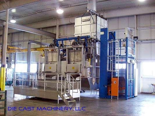 2000 MH 3000/2000 shaft type melting holding furnace
