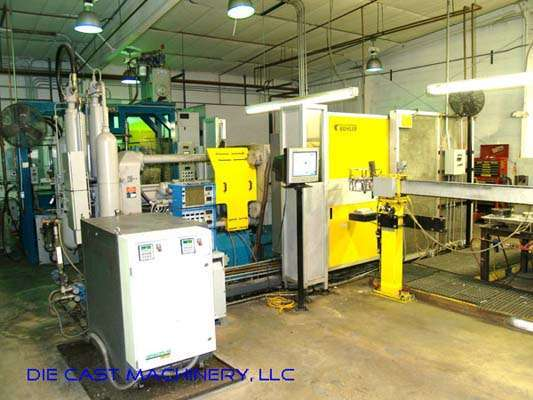 Picture of Buhler 34N (C-N/34) Horizontal Cold Chamber Aluminum High Pressure Squeeze Cast or Semi-Solid Die Casting Machine For Sale DCMP-2294