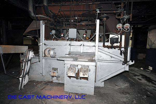 1,200 pound/hour reverberatory aluminum melting furnace