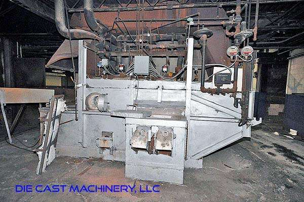 1,200 pound/hour reverberatory aluminum melting furnace
