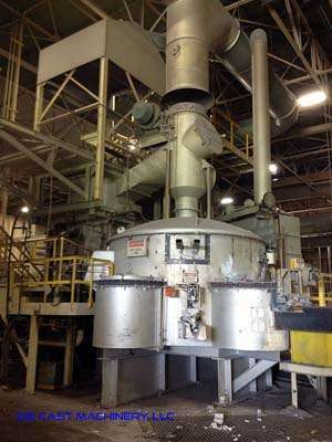 Picture of Modern Equipment Company MJM AL-8000 Stack (tower/shaft) Type Stationary Aluminum Melting and Holding Furnace For Sale DCMP-3099