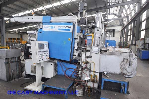 Picture of Frech DAW 200 F RC Horizontal Hot Chamber Zinc (Zamak) High Pressure Die Casting Machine For Sale DCMP-3290