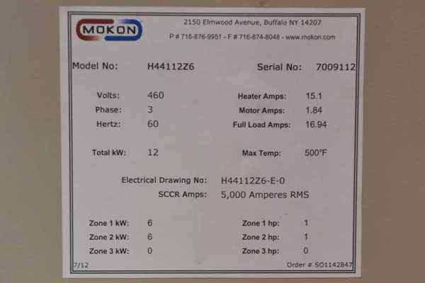 Picture of Mokon Dual (two) Zone Portable Hot Oil Process Heater Temperature Control Unit with Cooling Water Circuit DCMP-3552