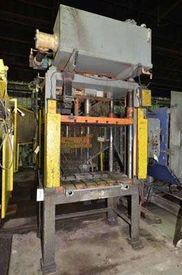 Picture of Metal Mechanics 35-T Four Column (Post) Vertical Hydraulic Die Casting Trim Press For Sale DCMP-3557