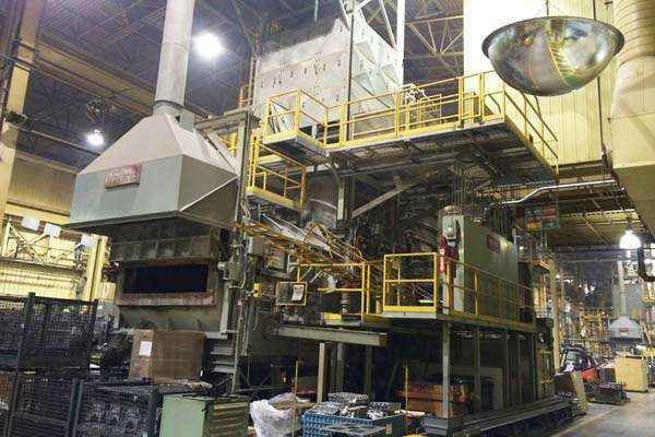 Picture of Modern Equipment AL-5500 Jet Melter Stack (tower/shaft) Type Stationary Aluminum Melting and Holding Furnace For Sale DCMP-3653