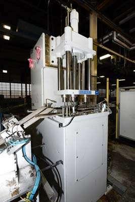 Picture of Reis Trim Press SEP 10-65 D111 Three Column (Post) Vertical Hydraulic Die Casting Trim Press For Sale DCMP-3698