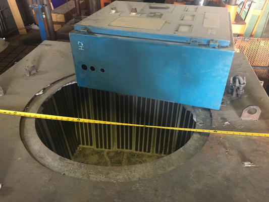 Picture of Dynarad MS 500 Electric Heated Silicon Carbide Crucible Type Aluminum Melting & Holding Furnace For Sale DCMP-3779