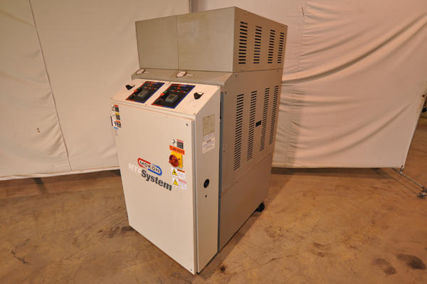 Picture of Mokon Dual (two) Zone Portable Hot Oil Process Heater Temperature Control Unit with Cooling Water Circuit DCMP-4134