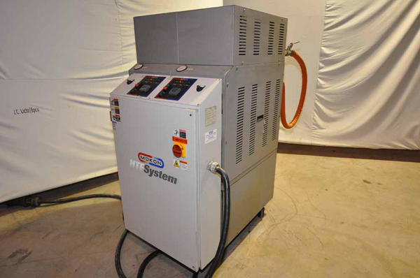 Picture of Mokon Dual (two) Zone Portable Hot Oil Process Heater Temperature Control Unit with Cooling Water Circuit DCMP-4135