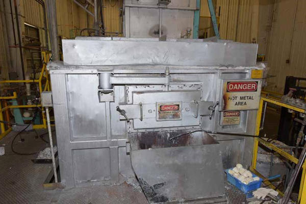 Picture of Modern Equipment AL-3000 Jet Melter Stack (tower/shaft) Type Stationary Aluminum Melting and Holding Furnace For Sale DCMP-4143