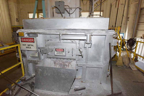 Picture of Modern Equipment AL-1500 Jet Melter Stack (tower/shaft) Type Stationary Aluminum Melting and Holding Furnace For Sale DCMP-4144