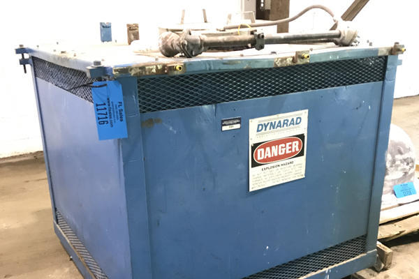 Used Dynarad MS-300 400 Pounds/Hour Electric Heated Crucible Melting