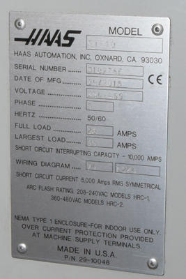 Used Haas ST-10 ST-10_14_x_16 inch 2 Axis CNC Turning Center ... Haas Chip Conveyor Wiring Diagram on