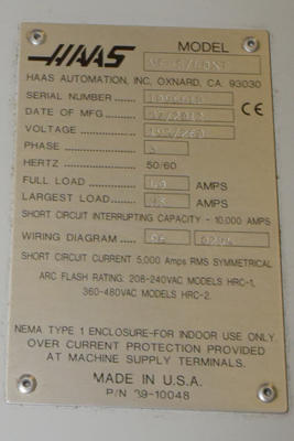 Used Haas VF-5/40XT VF-5-40XT_62_x_23 inch 4 Axis CNC Vertical ... Haas Chip Conveyor Wiring Diagram on