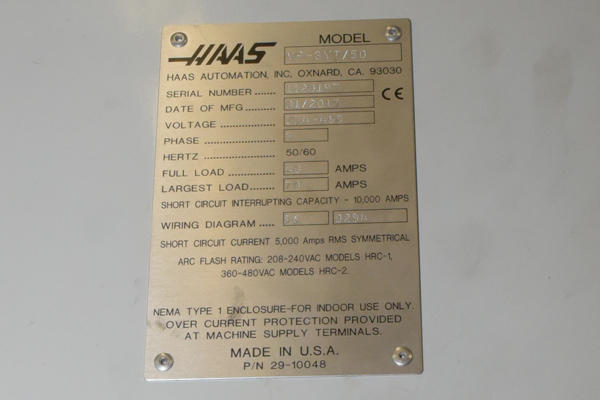 Used Haas VF-3YT/50 VF-3YT-50_52_x_23 inch 4 Axis CNC ... Haas Chip Conveyor Wiring Diagram on
