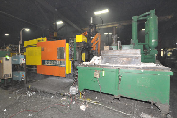 Picture of Toshiba DC 800 CL-HT Horizontal Cold Chamber Aluminum High Pressure Die Casting Machine For Sale DCMP-4498
